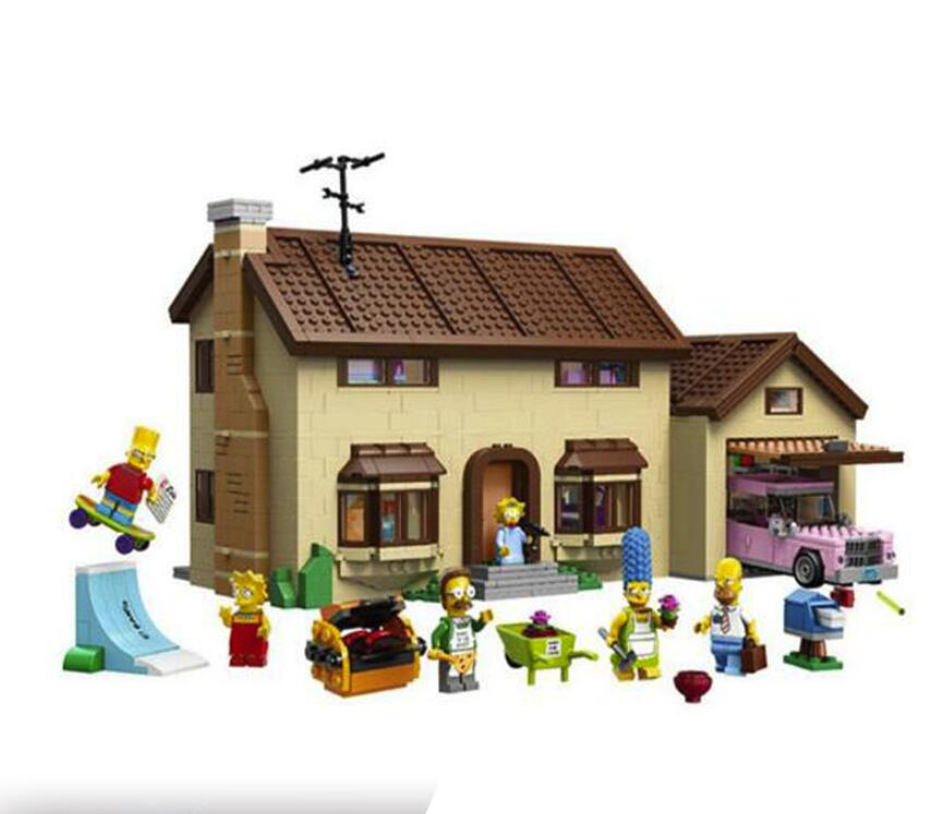 DHL In Stock 16005 2575Pcs The Simpsons House Model Building Block Bricks Compatible 71006 Boy Gift