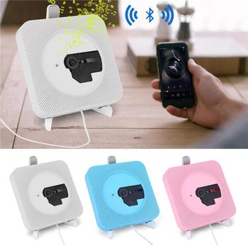 Portable CD MP3 Player Wall Mounted Bluetooth Remote Control USB CD Player FM Radio with US Plug portable media player