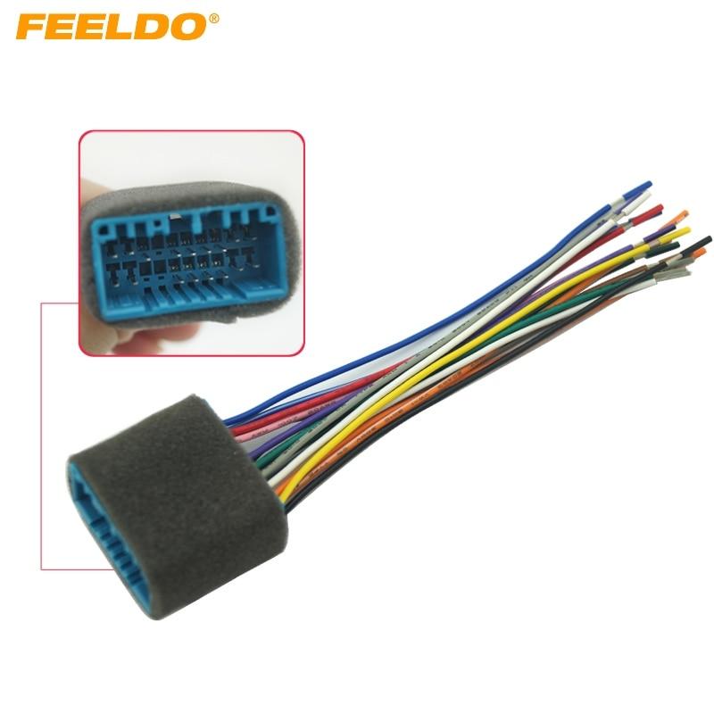 Feeldo Car Aftermarket Audio Radio Stereo Wiring Harness