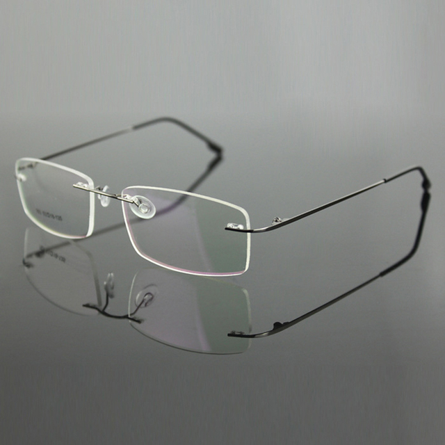 Rimless Titanium Alloy Ultra Light Weight Myopia Glasses Frame Optical Eye Glasses For Men