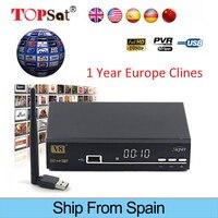 FREESAT V8 SUPER FTA Satellite Receiver HD Receptor DVB S2 Set Top TV Box Support 1