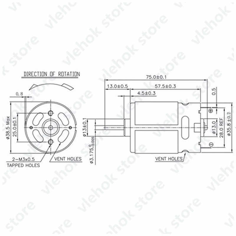 RS550 موتور 9.6 فولت 10.8 فولت 12 فولت 14.4 فولت 16.8 فولت 18 فولت استبدال ل بوش ديوالت هيتاشي ماكيتا ميتابو ميلووكي Hilti Ryobi ديفون RS-550