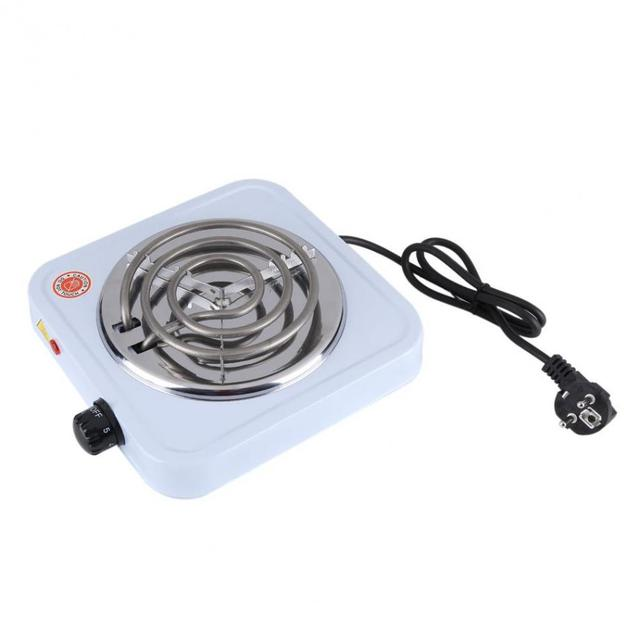 1000W 220V EU Plug Portable Electric Stove Coffee Hot Plate Heater For  Cooking Adjustable Temperature Kitchen