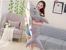 huge 150cm lovely cartoon gray shark plush toy soft cotton doll sleeping pillow toy ,birthday gift b2855(China)