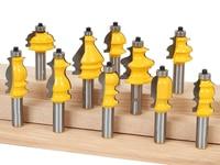 10pcs/set Architectural Molding Router Bit Set 1/2 Shank woodworking milling cutter/carbide end mill/ cnc router bits for wood