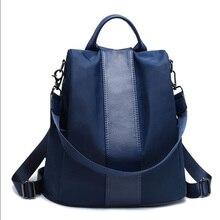 Torba szkolna przeciw kradzieży dla dziewczynek wielofunkcyjny wodoodporny plecak damski