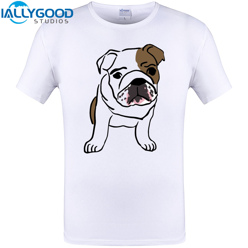 Us 12 99 English Bulldog Puppy Cool Design T Shirt Summer Men Cute Cartoon Dog Printed Tops Casual Funny Cotton Plus Size Tee Shirts In T Shirts