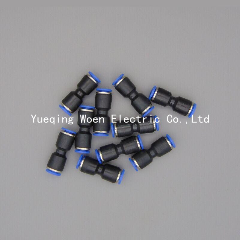 PU-10 10pcs a lot Straight one touch plastic pneumatic hose connector 10mm quick pipe fitting PU-10 air tube union joint PU3/8 7 9mm straight connector plastic fitting barbed connector material pp hose pvc tube connection joiner fitting aquarium fish tank