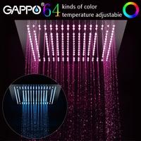 GAPPO shower head bathroom 400mm*400mm Water Powered Led Shower Head rainfall shower set bathtub faucet shower mixer