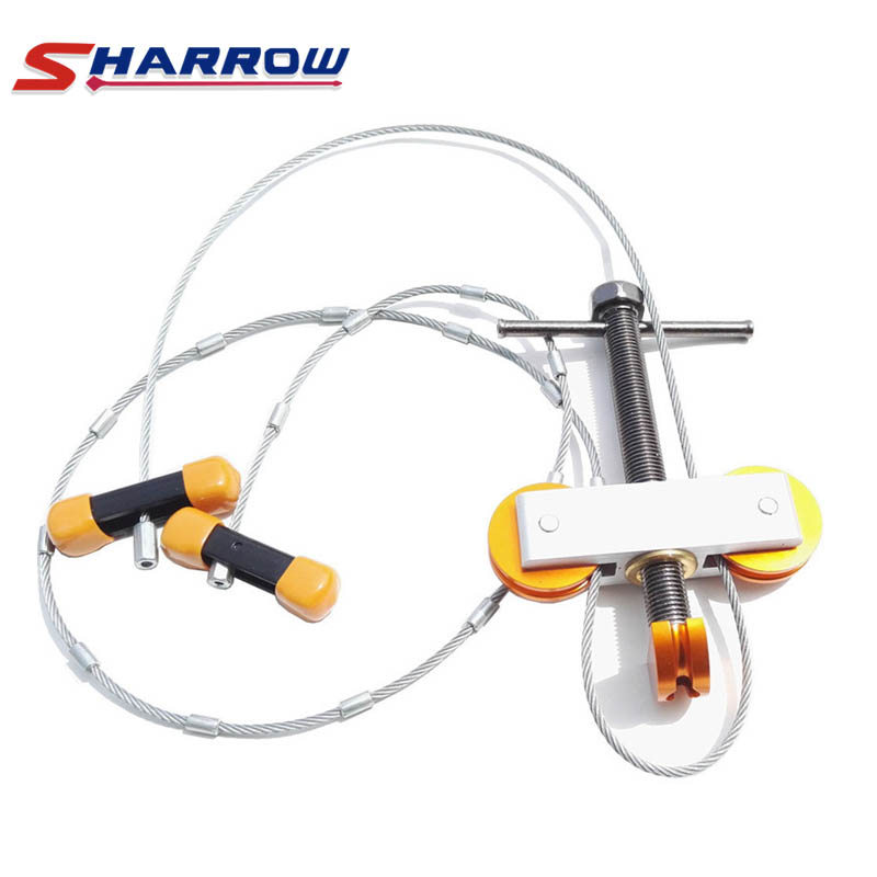 Sharrow 1 Set Portable Bow Press Metal Install Bowstrings Or Dismantling for Compound Bows Hunting Shooting