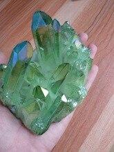 Light Green Aura Quartz Crystal