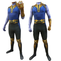 Avengers: Endgame Thanos Cosplay Costumes demon Thanos Costumes For Jumpsuits kids adult Halloween Party Dress Tight bodysuit
