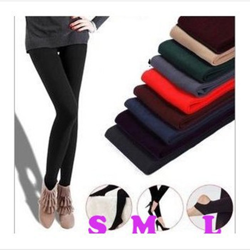 2019 Elastic Fleece Winter Fashion Leggings Charcoal Brushed Nap Thick Monolayer Step Foot Nine Women Leggings