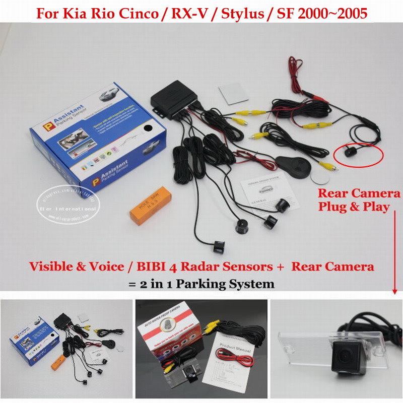 Liislee For Kia Rio Cinco RX V Stylus SF Car Parking Sensors Rear View Camera 2