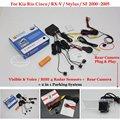 For Kia Rio Cinco /RX-V /Stylus /SF - Car Parking Sensors + Rear View Back Up Camera = 2 in 1 Visual / BIBI Alarm Parking System
