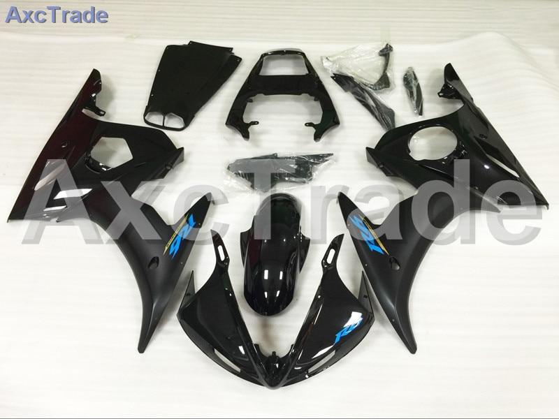 Motorcycle Fairings Kits For Yamaha YZF600 YZF 600 R6 YZF-R6 2003 2004 2005 03 04 05 ABS Injection Fairing Bodywork Kit Black for yamaha yzf 600 r6 2003 2004 2005 yzf600r abs plastic motorcycle fairing kit bodywork yzfr6 03 04 05 yzf600r6 yzf 600r cb04