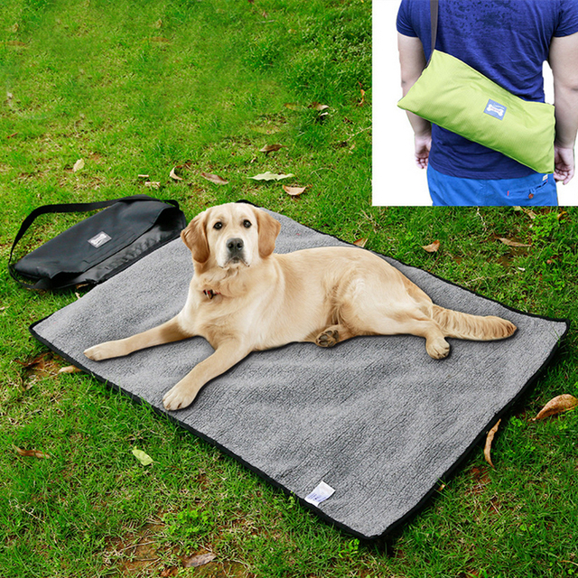Outdoor Extra Large Dog Pet Bed Multi Portable Travel Blanket Waterproof Fleece Mat For Medium Dogs Sleeping Pad 20e