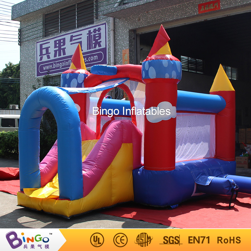 PVC 3.5*3.5*2.45M Inflatable Trampolines Big Trampolines Inflatable Slide Water with Free Blower for sale inflatable pool toys free shipping by sea popular commercial inflatable water slide inflatable jumping slide with pool
