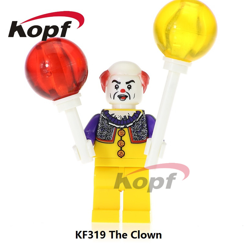 20Pcs Super Heroes The Clown Joker Harley Quinn Elvis Aron Presley Bricks Assemble Building Blocks Children Gift Toys KF319 the joker the clown prince of crime