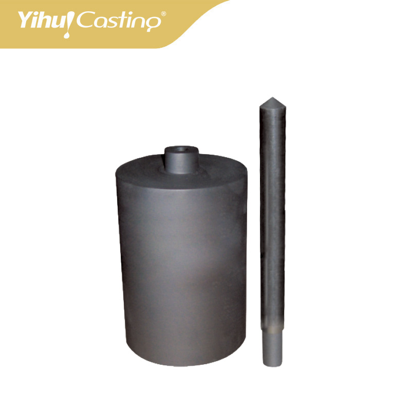5/lot Hot sale 2 5kg Graphite crucible and ceramic shield for