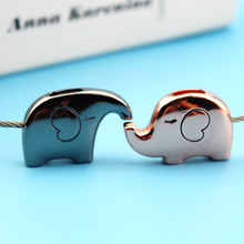 Elephant Couple Keychain Cute Key Ring For Women Wire Rope Key Chain