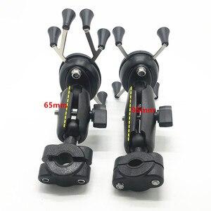 Image 2 - Rail mount 1 นิ้ว headrest รถรถจักรยานยนต์สกูตเตอร์กระจกมองหลัง stem bar mount สำหรับโทรศัพท์มือถือสำหรับ ram mounts