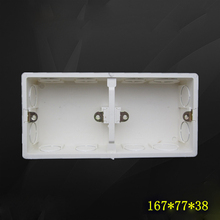 10pcs Wall Mount Switch Dark Box Activity Double Secret Stash Base 2-Gang 86 Type Switch Socket Bottom Box 167*77*38mm