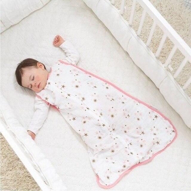 100% Muslin Cotton Mỏng Ngủ Nông Túi Ngủ Mod Cho Mùa Hè chăn ga gối Cho Bé Saco De Dormir Para Bebe Bao Sleepsacks