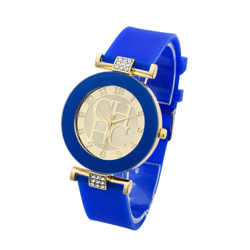 Kvinders ure 2018 New Brand Gold Quartz Watch Silikone Jelly Crystal - Dameure - Foto 3