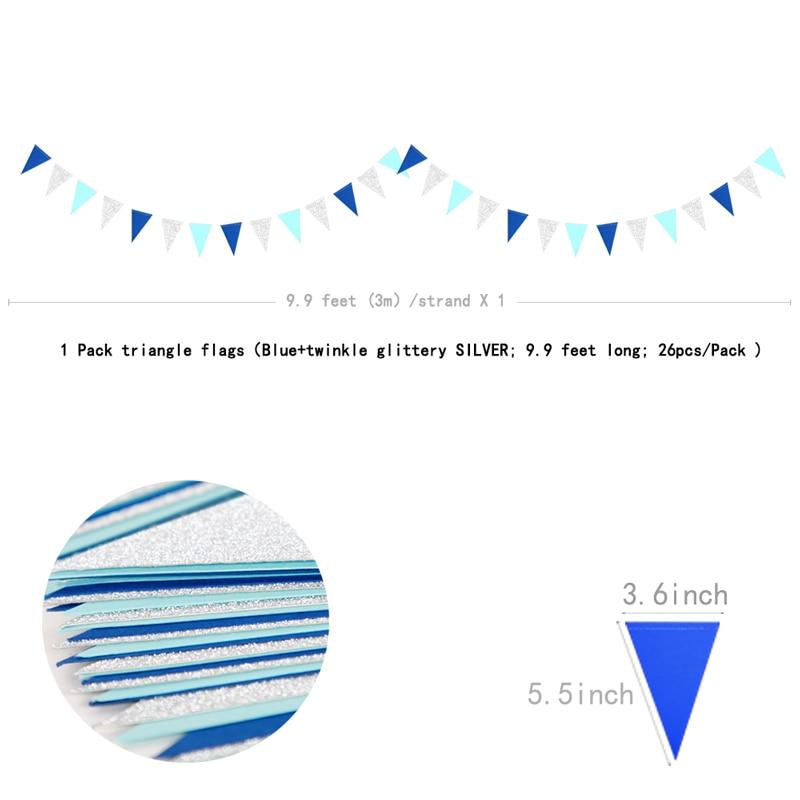 Blue Die Cut Baby Banner Embellishment x 6PC