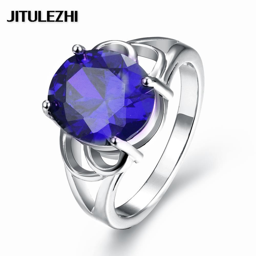 2016 New Fashion Gold Color Rings Big Stone Wedding Ring Bridal Jewelry  Rose Gold Original Designs