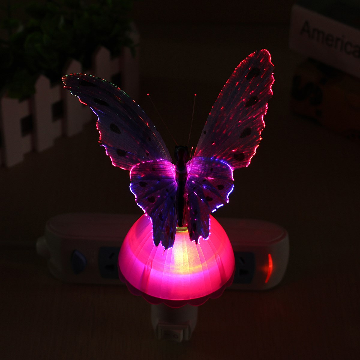 New Butterfly Night Lamp LED Night Light Lamp For Bedroom Beautiful - Butterfly lights for bedroom