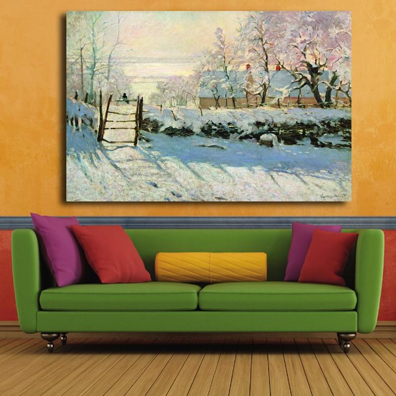 Impressionistischen ölgemälde von berühmten malers Monet Abstrakte ...