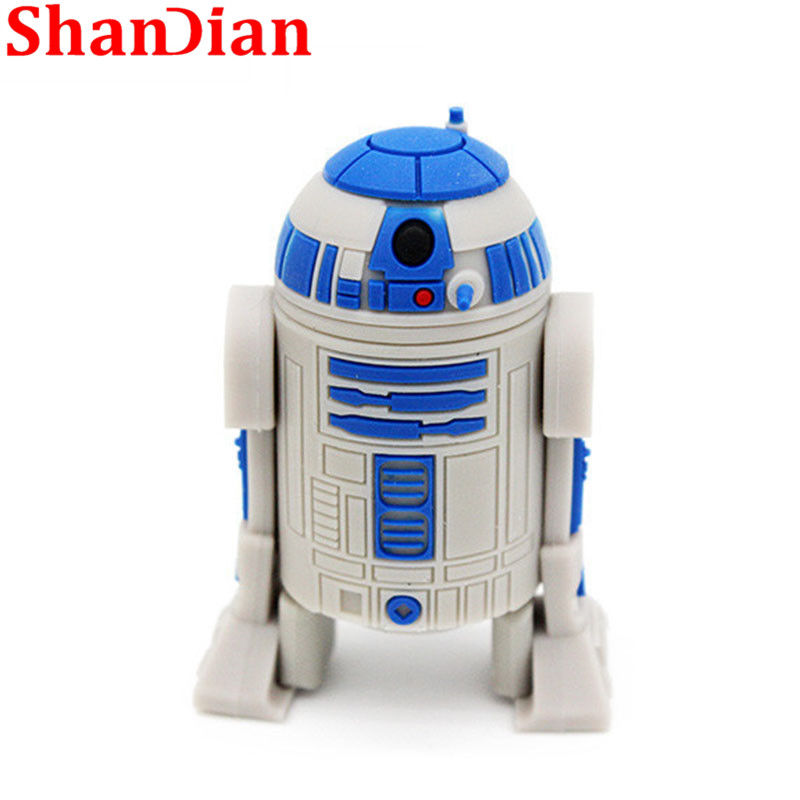 Image 2 - SHANDIAN hot sale cartoon flash memory card with usb 4GB 16GB 32GB 64GB Star Wars Robot all styles USB 2.0 Pen drive pendriver-in USB Flash Drives from Computer & Office