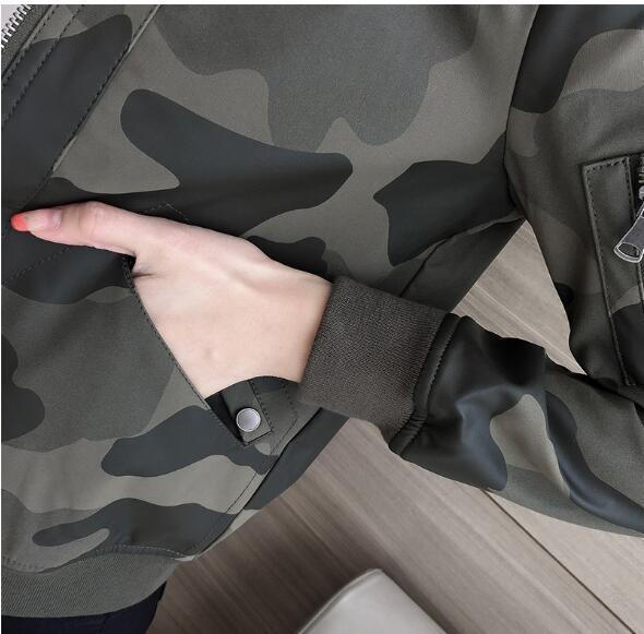 Conception Black D'hiver Des Vêtements Rembourré Et En Baseball armygreen Spécial Veste Automne Camouflage Imprimé Pu Féminin Coton De Court Uniforme Camouflage Femmes Cuir wxqaRqOz8