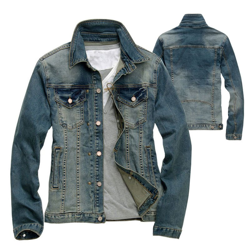 Popular Men Slim Fit Denim Jacket-Buy Cheap Men Slim Fit Denim