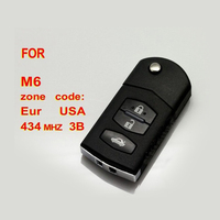 Folding Remote Key Car Starter 3 Button For Mazda 433MHz With 4D63 Chip