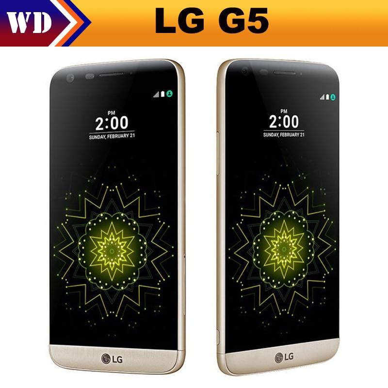 """Цена за Разблокирована оригинальный lg g5 4 gb ram 32 ГБ rom дисплей 5.3 """"quad core 16mp отпечатков пальцев fdd lte сотовый телефон"""