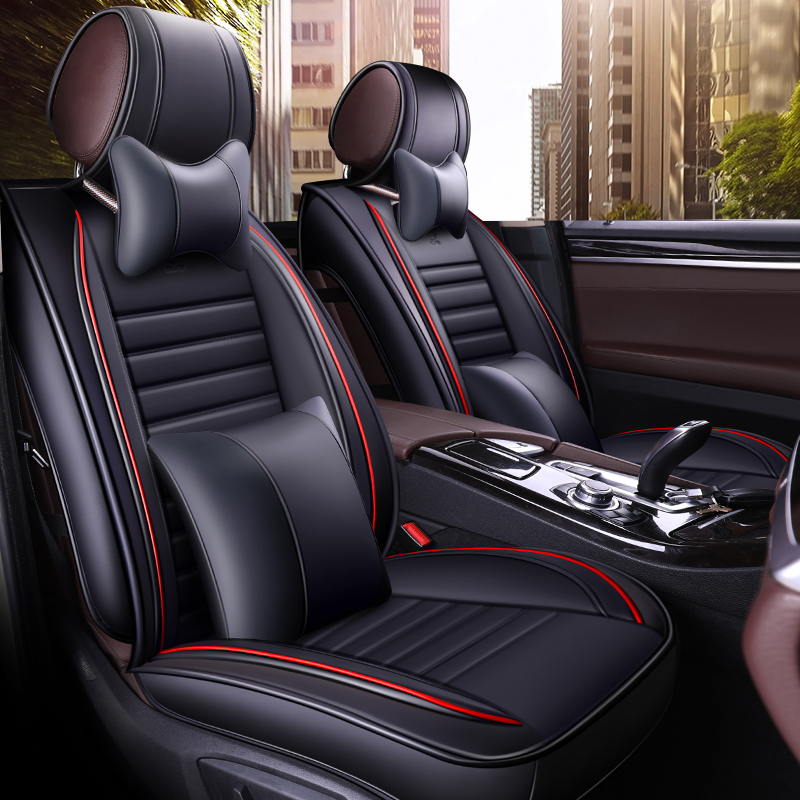 car seat cover set seats covers leather accessories for peugeot 308 508 sw fiat tipo doblo ford focus kuga mondeo edge