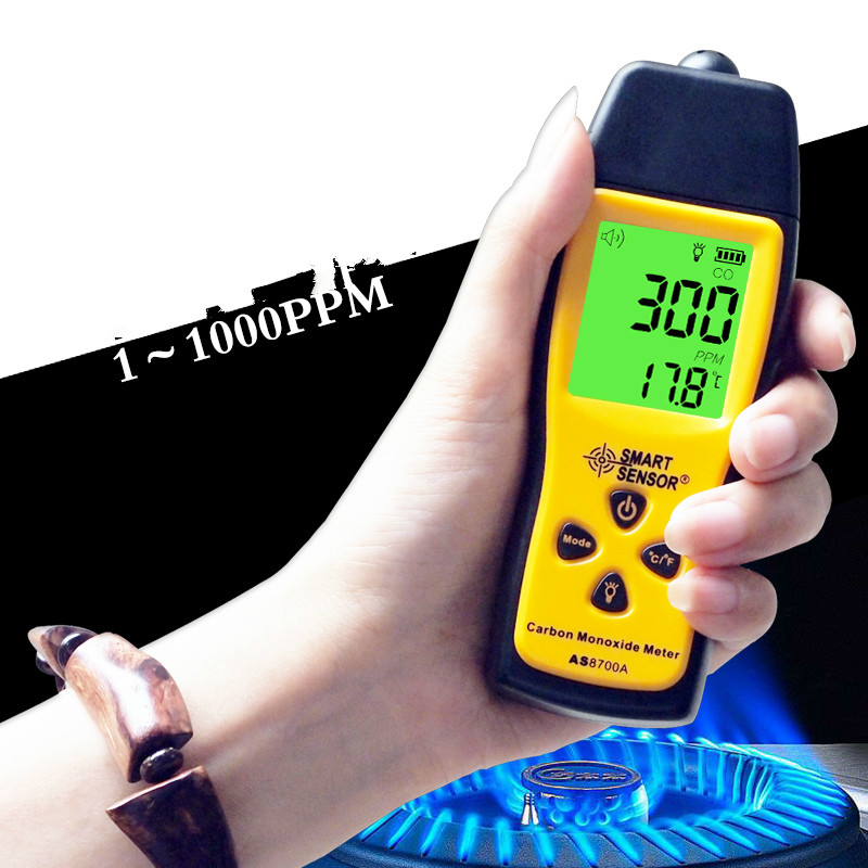 CO gas Tester A burglar alarm Portable carbon monoxide CO tester 1~1000ppm