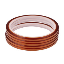лучшая цена uxcell 3mm Width 30M Length High Temperature Heat Resistant Polyimide Tape Brown High Quality 5PCS Insulation Tape Hot Sale