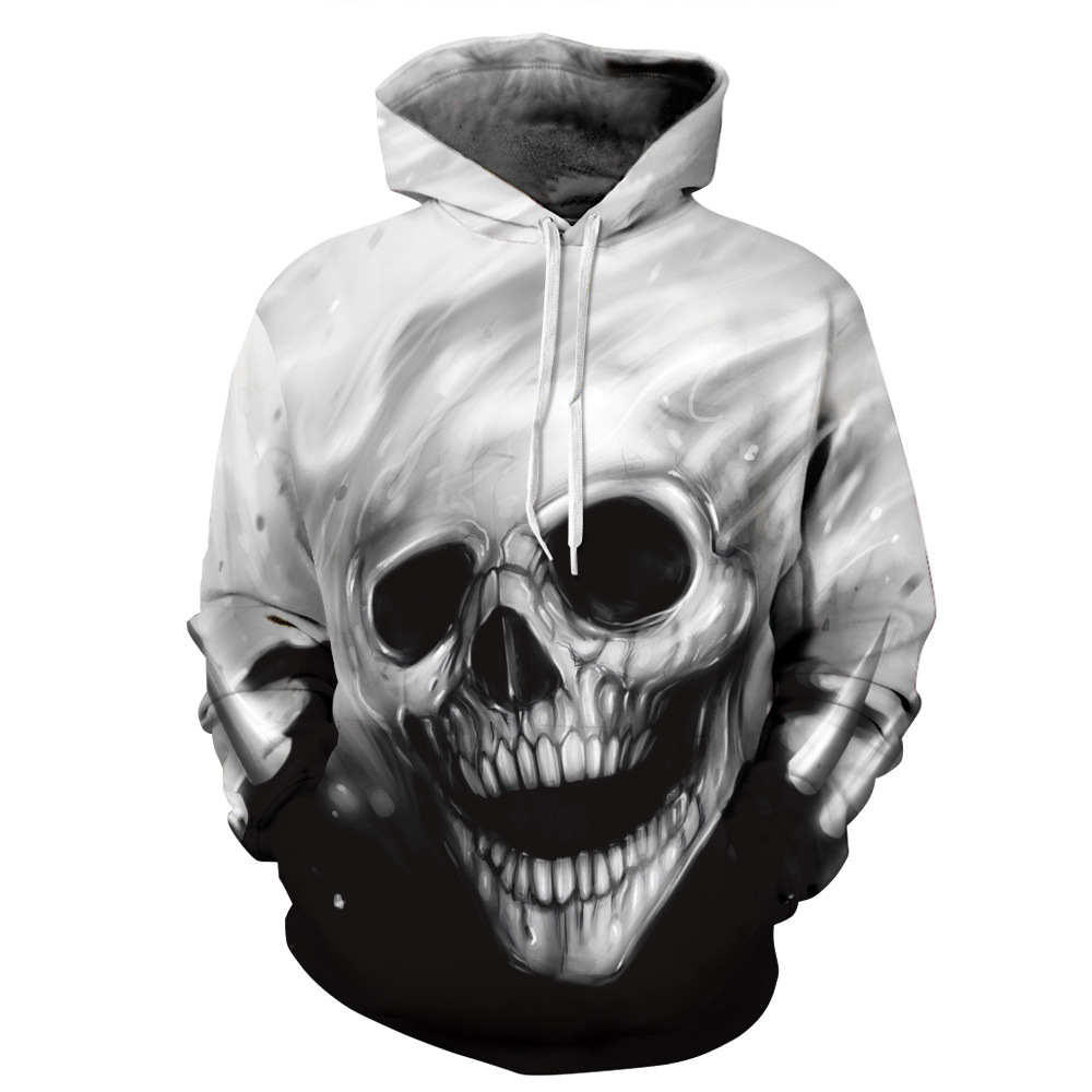 Lovers Skateboarding Hoodie Skeleton 3D Hoodie men & women hooded sweater Hip-hop Streetball coat hooded pullover 3D Hoodies