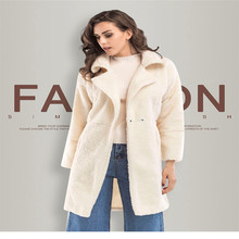 Autumn And Winter New Womens Plush Long-sleeved Long Coat Ladies Jacket Warm Jackets-xl