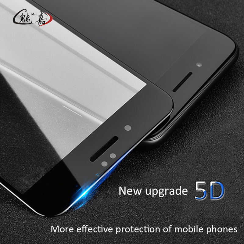 Galleria fotografica MEIJIA NEW 5D Tempered Glass For iPhone 6 6S plus 7 plus glass Curved Premium Full cover Screen Protector Film (3D 4D Upgrade)