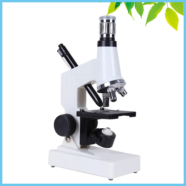 Top and Bottom Light Illumination Children Microscope 1200X Monocular Biological Microscope for Kids Student Great Birthday Gift цена