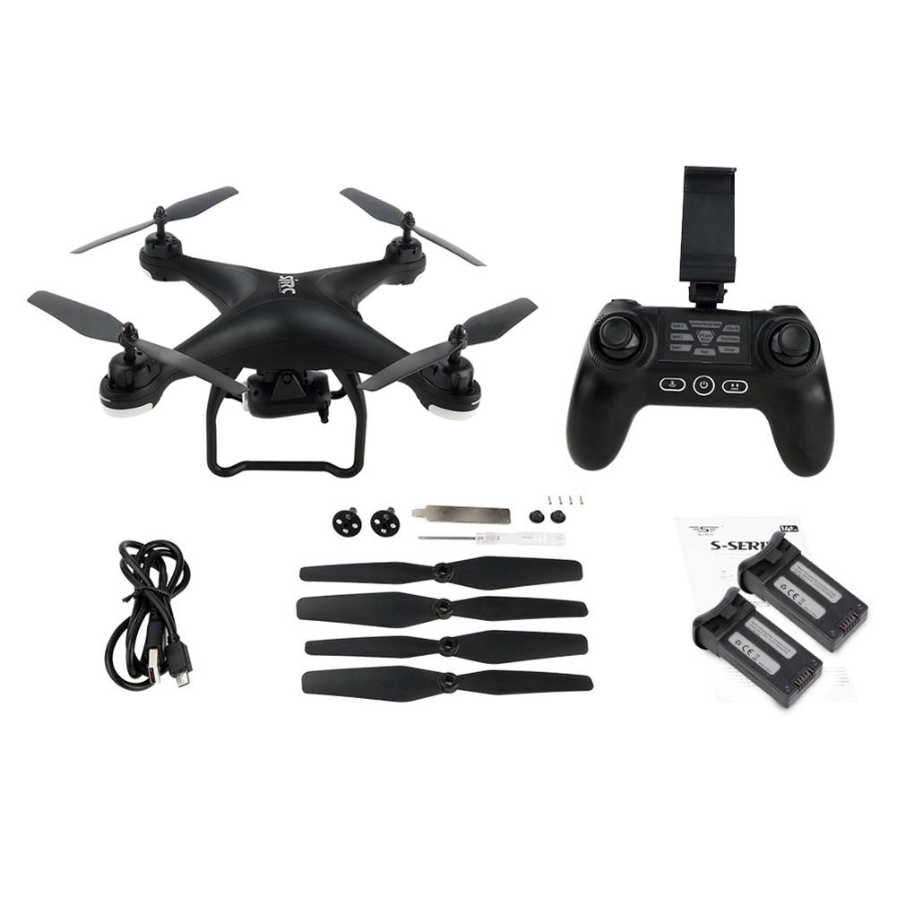 Quick Charging Long Distance Control SJ R C S20W 1080P Camera GPS WiFi FPV RC Drone Quadcopter RTF with Two Batteries in RC Helicopters from Toys Hobbies