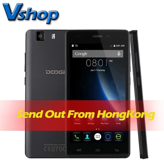 Original DOOGEE X5 3G Mobile Phone Android 5.1 1GM RAM 8GB ROM MT6580 Quad Core 720P 8.0MP Camera Dual SIM 5.0 inch Cell Phone
