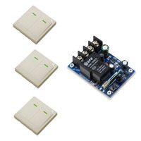 DC 12V 24V 36V 48V Wireless Remote Control Switch 40A Relay Receiver 86 Wall Transmitter Learning