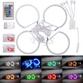 New 4X 131MM 5050SMD Multi-Color RGB LED Angel Eyes For BMW E36 E46 E39 E38 3 5 7 Series Halo Ring Kit Headlights 1992-2006