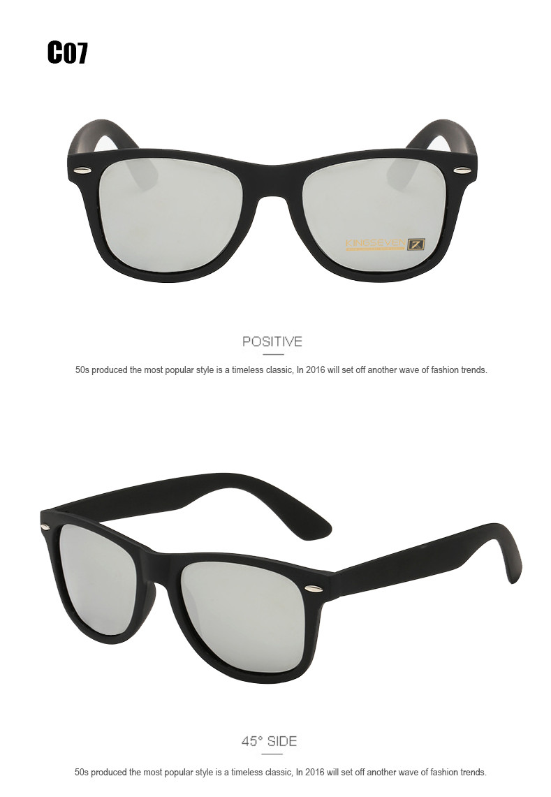54mm Fashion Unisex Square Vintage Polarized Sunglasses mens Polaroid Women Rivets Metal Design Retro Sun glasses gafas oculos 11